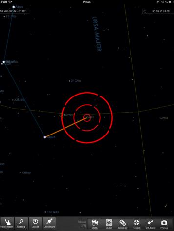 Starmap HD M51 Telrad
