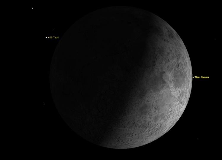 Mond bedeckt 68 Tau Bild Starry Night