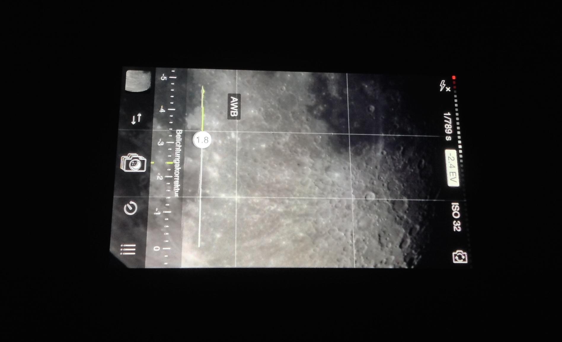 Astrofotografie mit dem iphone teil smartphone adapter und