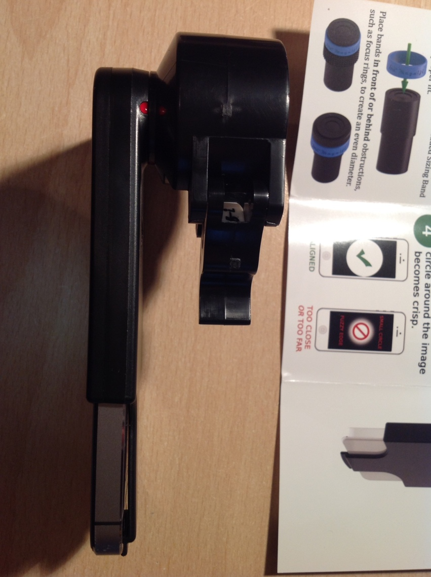 Seitenansicht Adapter mit iPHone