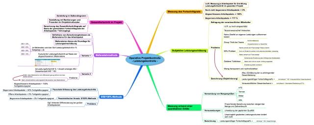 Operative Projektkontrolle - Leistungsfortschritt