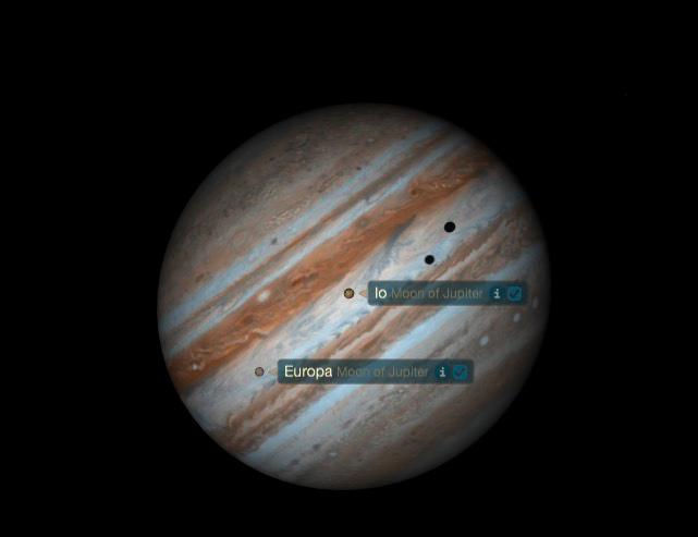 Jupiter Io Europa 02.01.2015