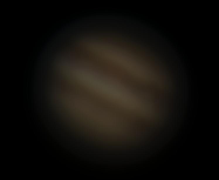 Jupiter am 13.02.15: 254-fache Vergrößerung und 6-fach Digitalzoom iPhone 5S (ProCamera)