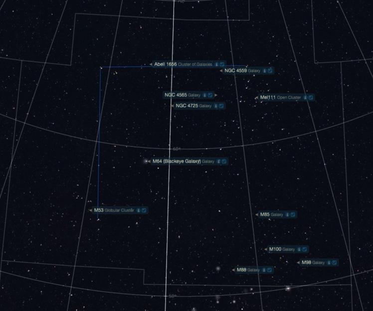 Objekte im Sternbild Haar der Berenike