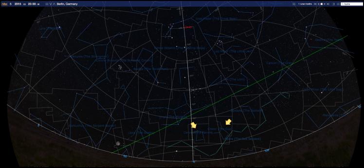Sternbilder Rabe und Becher