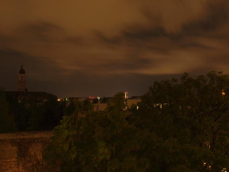 Wolken über Friedenau statt Sternenhimmel 1