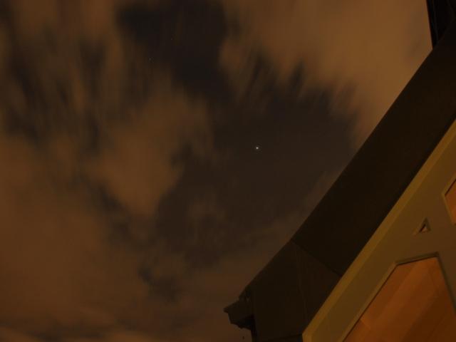 Wolken über Friedenau statt Sternenhimmel 2 - Jupiter