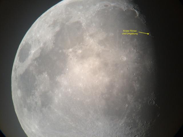 Mond am 25.08.15 - 17mm Okular