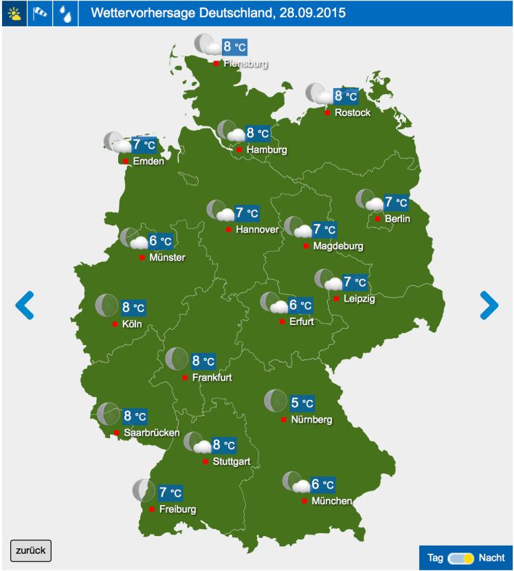 Wettervorhersage Wetter24.de