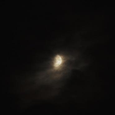 Die Mondsichel am 22.09.15