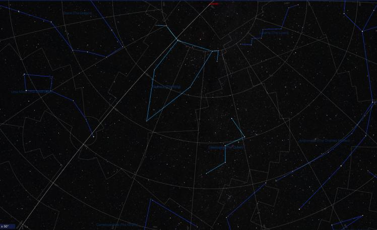 Sternbilder Cepheus und Cassiopeia