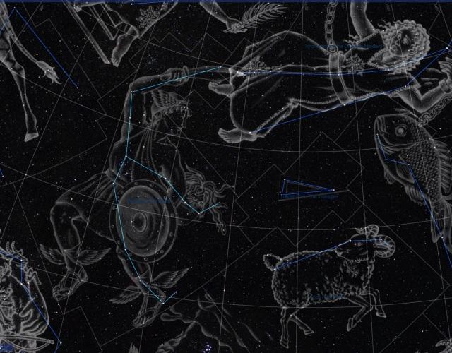Sternbild Perseus Illustration