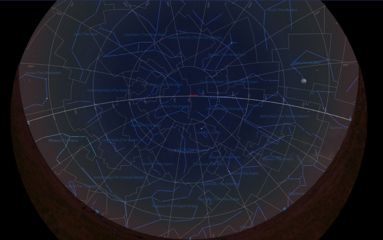 Sternbild Perseus Mitte Juni