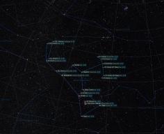 Sternbild Orion mit Benennung der Sterne