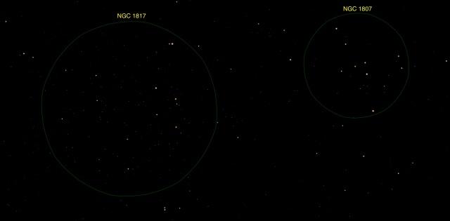 Offener Sternhaufen NGC 1807 - 1817
