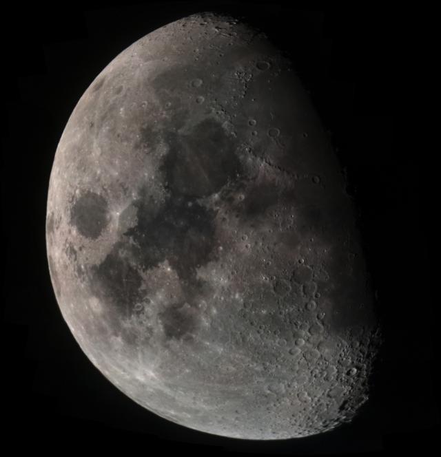 Mondmosaik vom 17.03.16, ca, 60 Einzelbilder von 22:10 bis 22:30 Uhr.