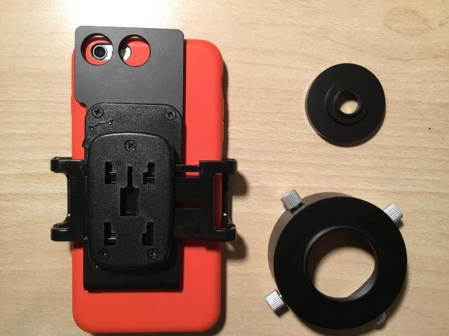 TS-Optics universal Smartphone Adapter und TS-Optics universal T2 Fotoadapter - für Okulare 50-59 mm