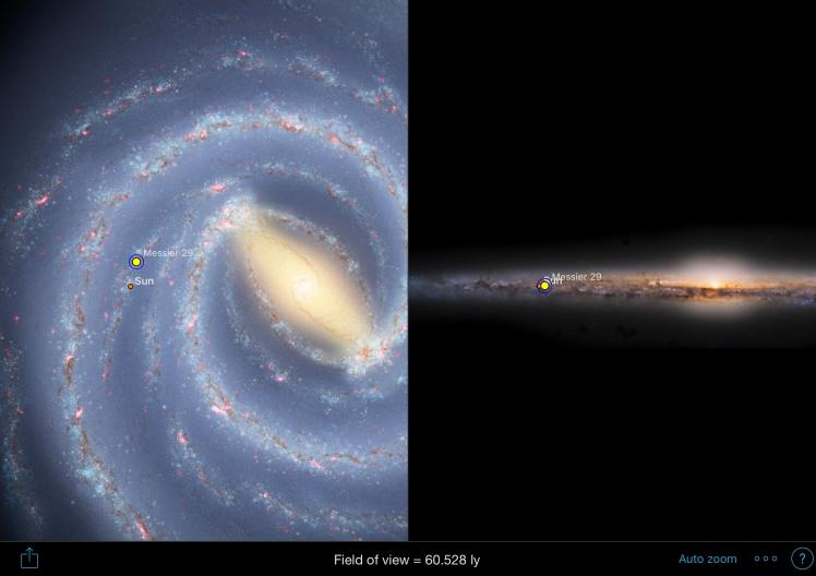 M29 Position in der Milchstraße
