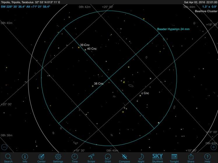 M44 SkySafari FOV