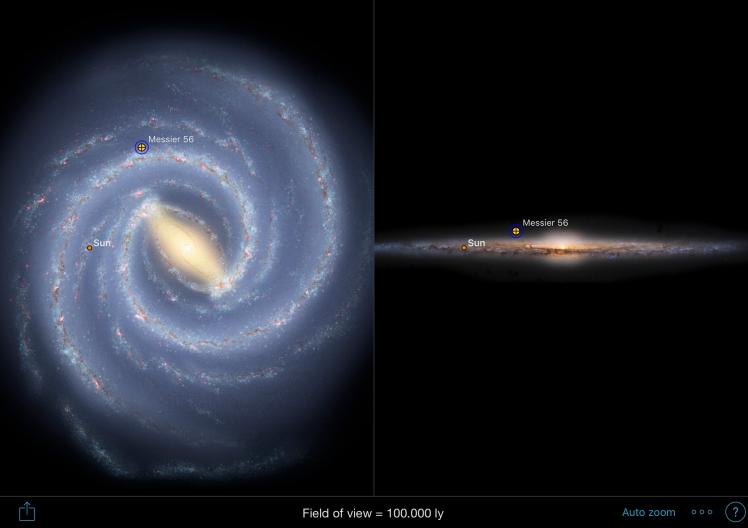 M56 Position in Milchstraße
