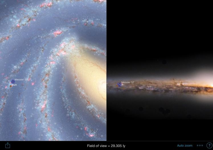 M57 Position in Milchstraße
