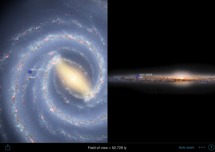 NGC6826 Position in der Milchstraße