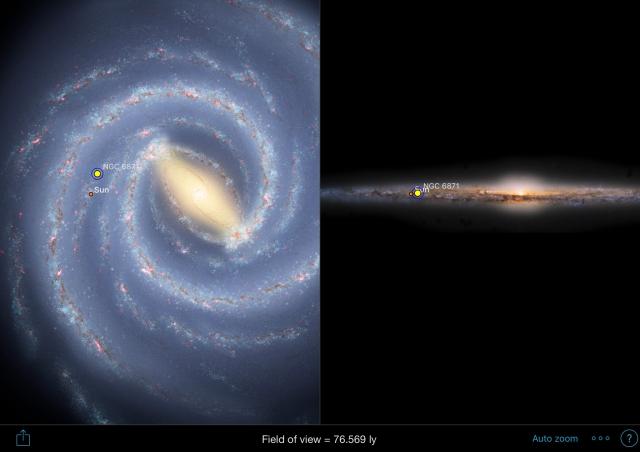 NGC6871 Position in der Milchstraße