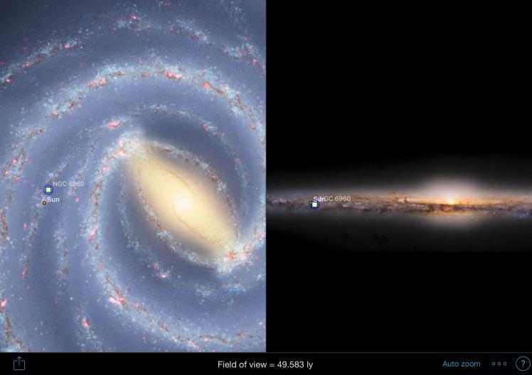 NGC6960 Position in der Milchstraße