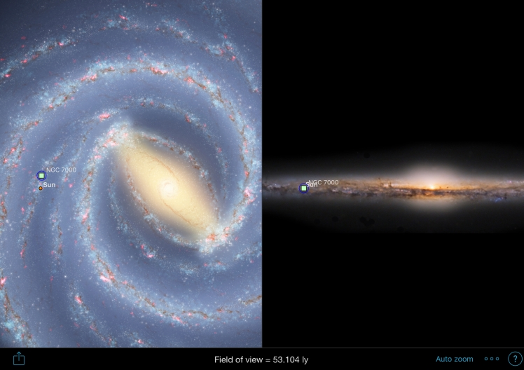 NGC7000 Position in der Milchstraße