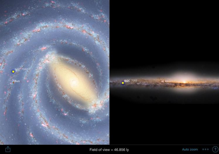 NGC7082 Position in der Milchstraße