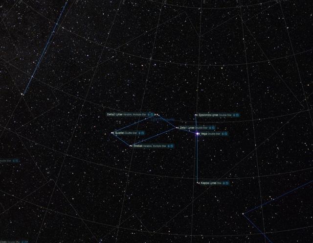 Sternbild Leier - Namen der Sterne