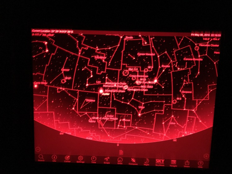Sternkarte von SkySafari auf dem iPad Pro