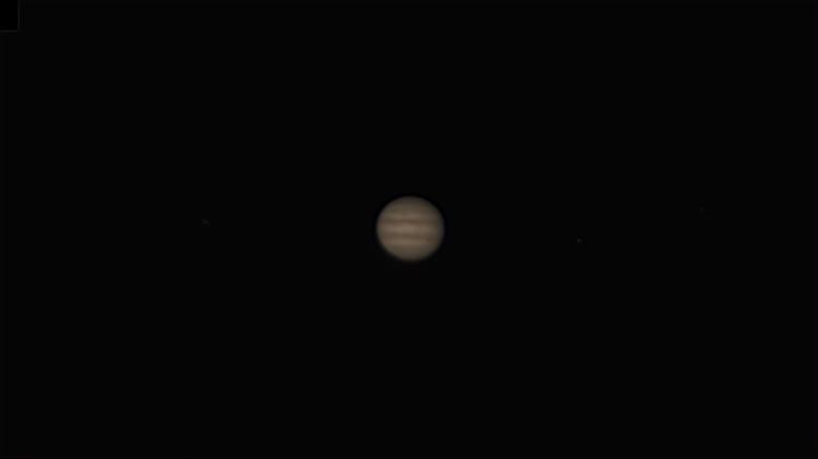 Jupiter, nachbearbeitet mit autostakkert und Giotte, 85-fache Vergrößerung ohne Digitalzoom