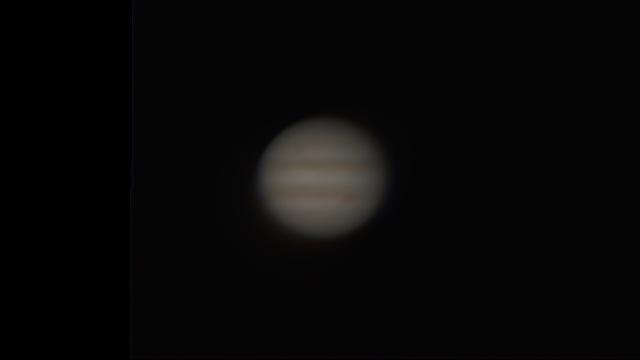 Jupiter, nachbearbeitet mit autostakkert und Giotte, 85-fache Vergrößerung mit 2-fach Digitalzoom