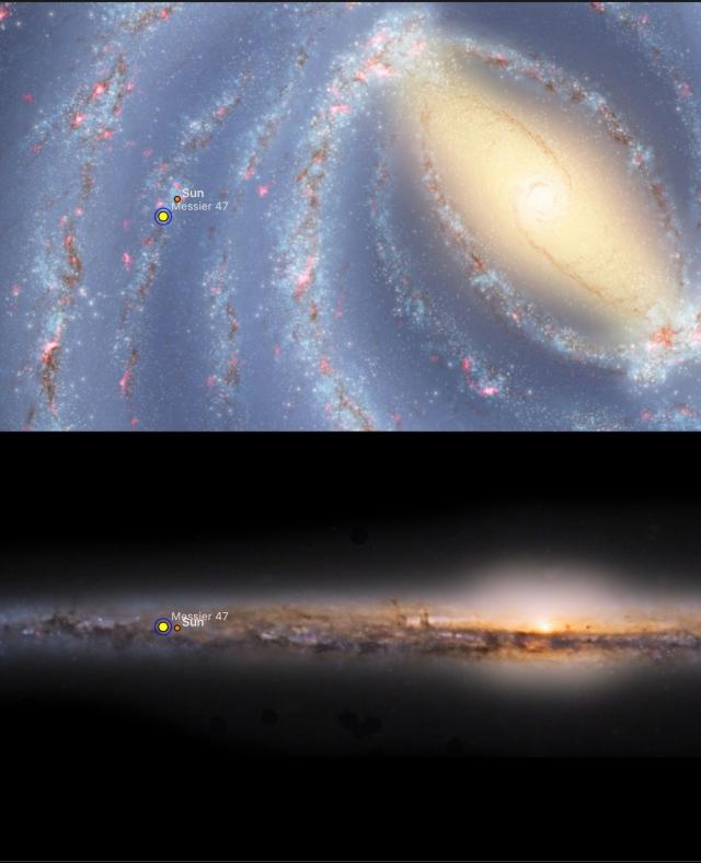 M47 - Position in Milchstraße