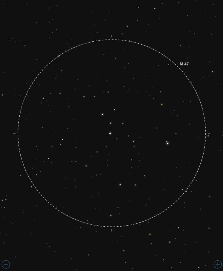 M47 - Abbildung aus SkySafari Pro 5