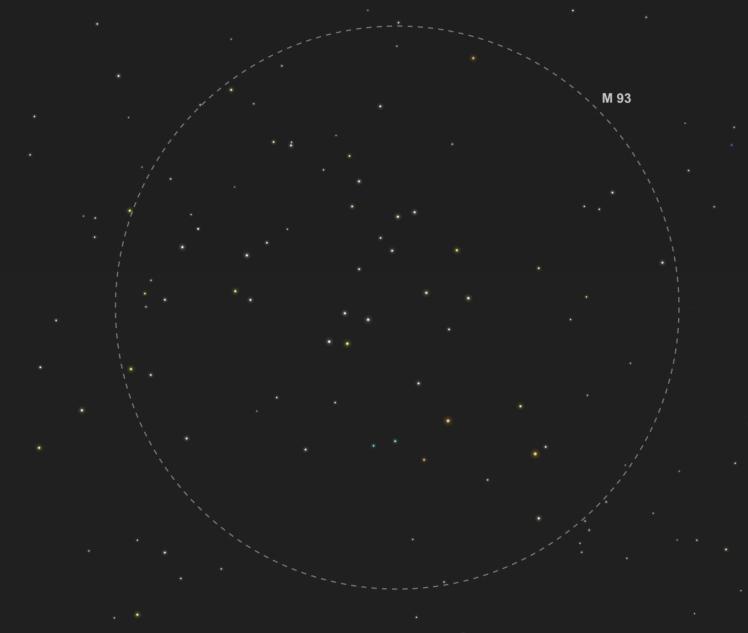 M93 - Abbildung aus SkySafari Pro 5