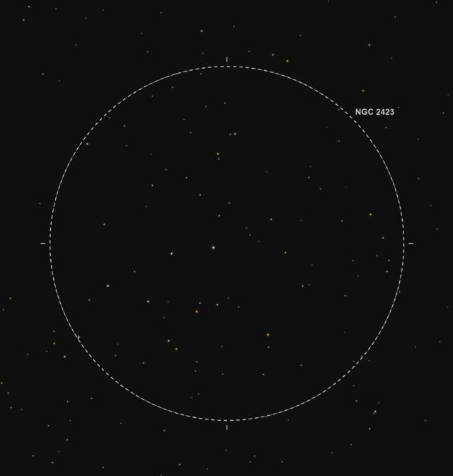 NGC 2423 - Abbildung aus SkySafari Pro 5