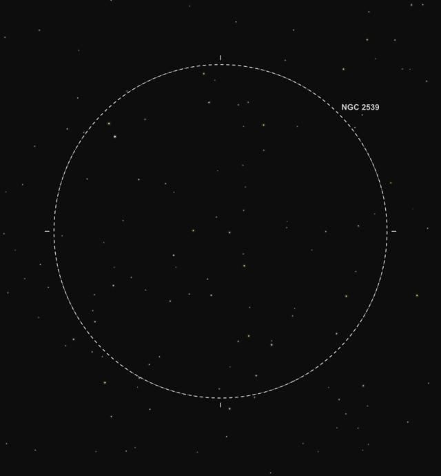 NGC 2539 - Abbildung aus SkySafari Pro 5
