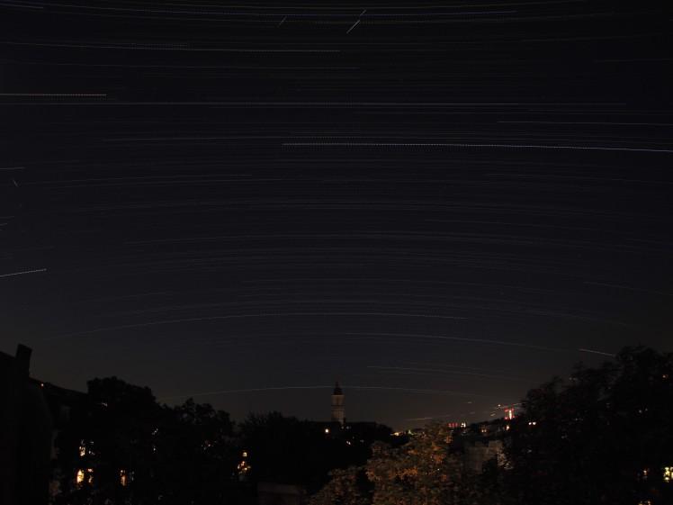 Startrail Foto - 24.06.16, 22:00 Uhr bis 25.06.16, 04:50 Uhr