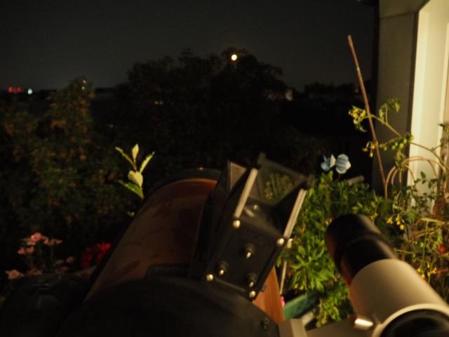 Der Mond kurz vor dem Untergang
