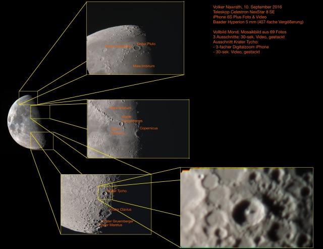 Meine Mondbeobachtung am 10.09.16