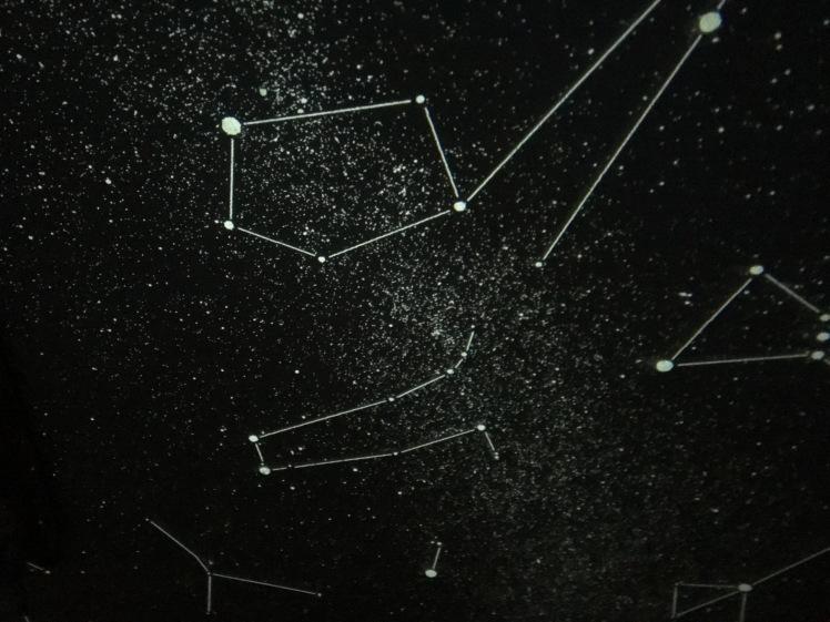 Heimplanetarium - Projizierter Sternenhimmel