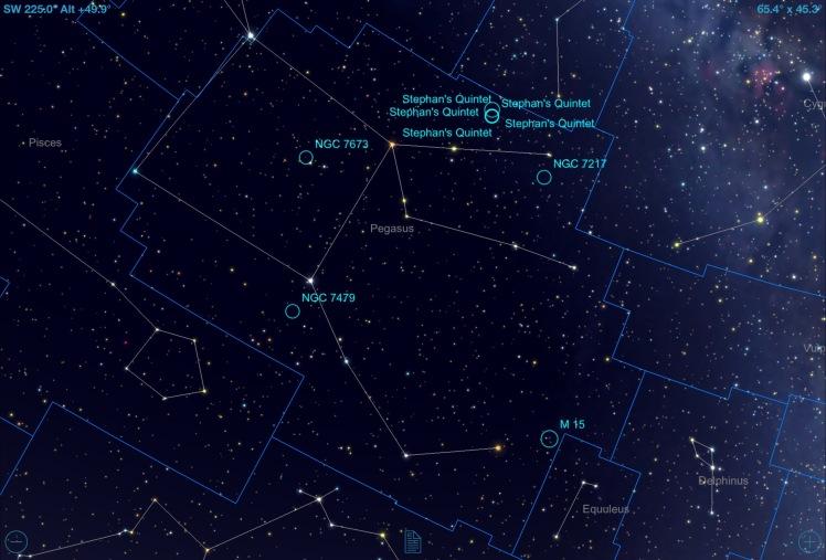 Sternbild Pegasus: mögliche Beobachtungsobjekte