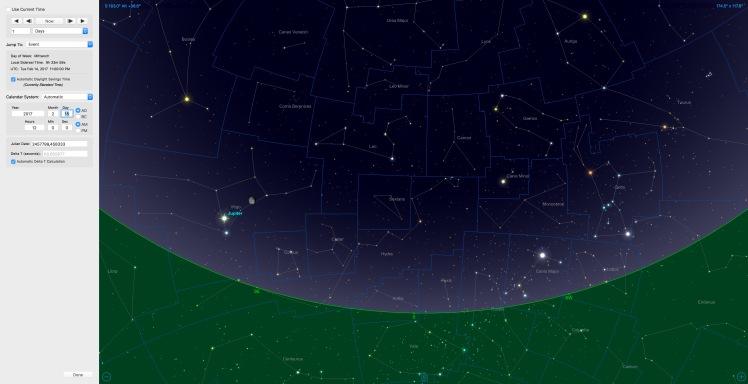 Mond bei Jupiter am 15.02.17