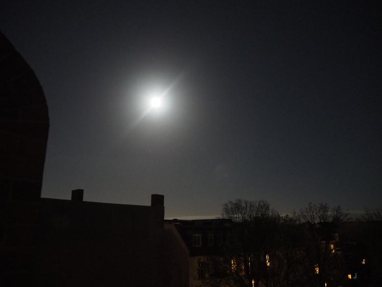 Mond beim Jupiter mit Stern Spica