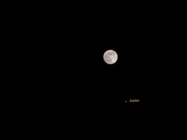 Mond bei Jupiter