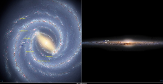 NGC 3242 - Position in der Milchstraße