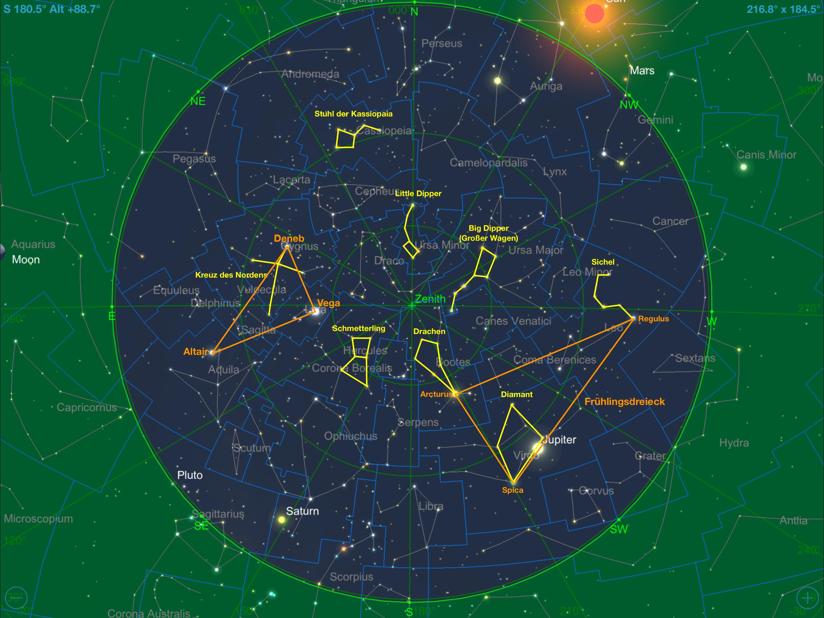 Astronomie ohne Teleskop Vorschau für Juni 20   Volker Nawraths ...