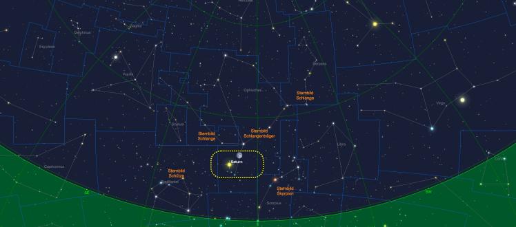 Der Mond beim Saturn am 06.07.17 um 23 Uhr